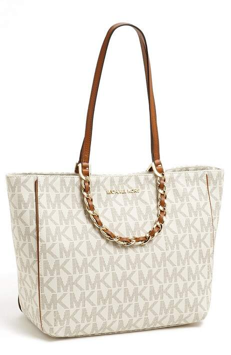 BOLSA DE COURO MICHAEL KORS HARPER NORTH/SOUTH TOTE - modelo 30H3GRPT3B