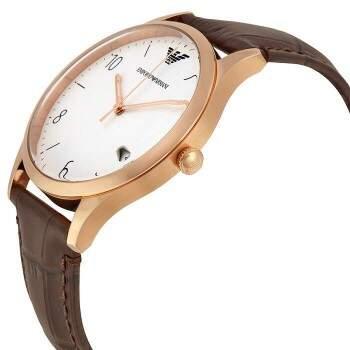 Relógio EMPORIO ARMANI AR1915 (Masculino) Marrom e Dourado Rosê