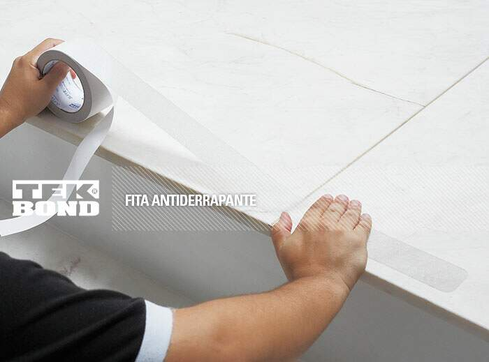 Fita Anti Derrapante Transparente Tek Bond - 50mm x 5m