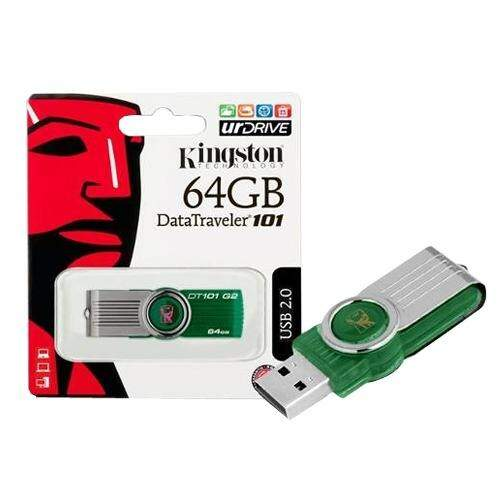 Pen Drive 64gb Kingston Original Lacrado