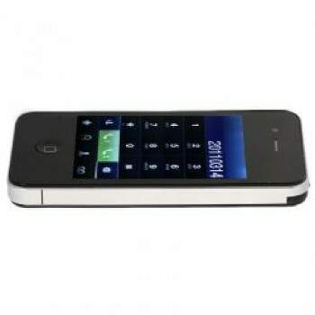 MP F8 Quad Band cartões duplos com TV analógica Java Touch Screen Celular - Preto -