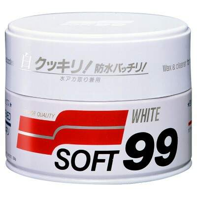 SOFT99 CAR WAX WHITE - BRANCO 350g