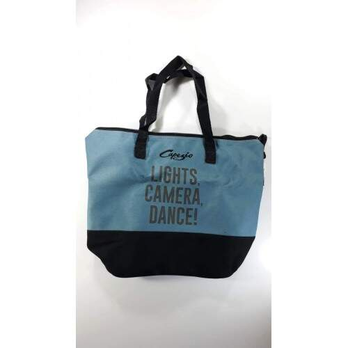 Mini Dance Bag Média Azul Jeans e Preto
