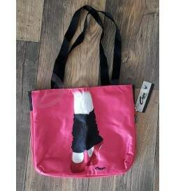 Bolsa Mini Plena Rosa com Estampa