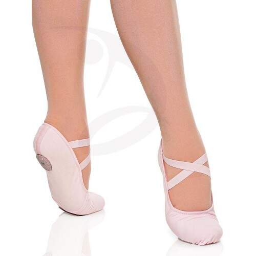 Sapatilha de Ballet com Stretch Glove Foot Salmão