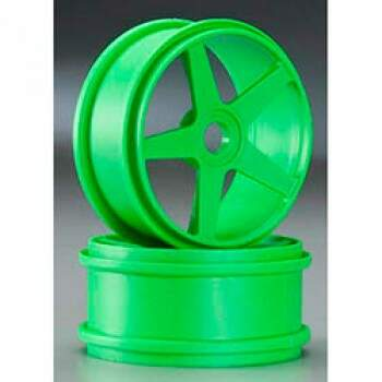 1/8 5 SPOKE WHL, 17MM GREEN