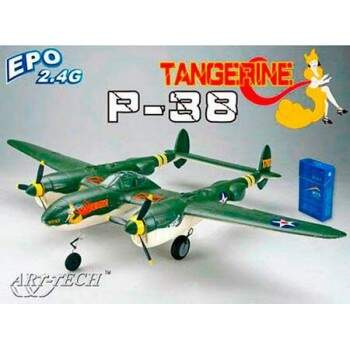 P-38 ELETRICO RTF COMPL. C/RADIO BAT. 800MM