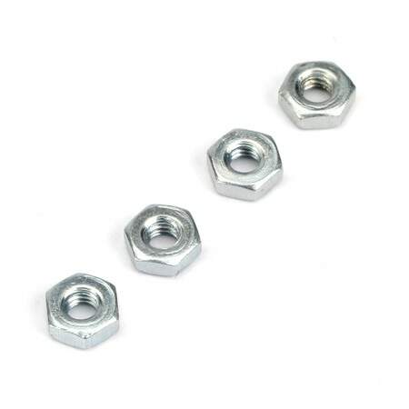 2.5MM STEEL HEX NUTS 4/PK