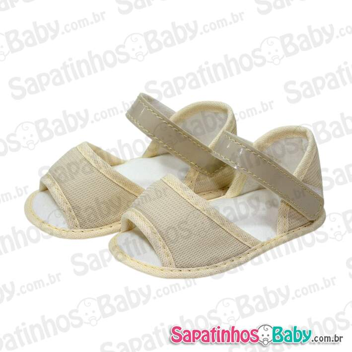 Kit 3 Pares Sapatinho para Customizar Bege (Grade = P/M/G)