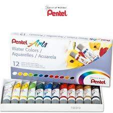 Tinta Aquarela Arts Water Colours 12 cores Pentel Ref.: WFRS-12