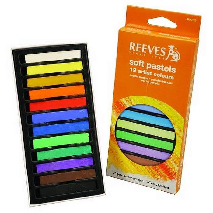 Giz Pastel Seco Reeves 12 Cores Ps12