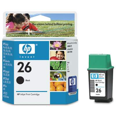 Cartucho de Tinta HP 26 Preto 40ml 51626a