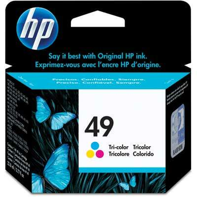 Cartucho de Tinta HP 49 Tricolor 22,8ml 51649A