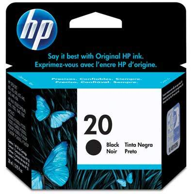 Cartucho de Tinta HP 20 Preto 28ml C6614D