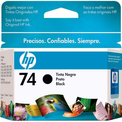 Cartucho de Tinta HP 74 Preto 4,5ml CB335WB
