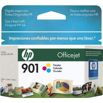 Cartucho de Tinta HP 901 Tricolor 9ml CC656AL
