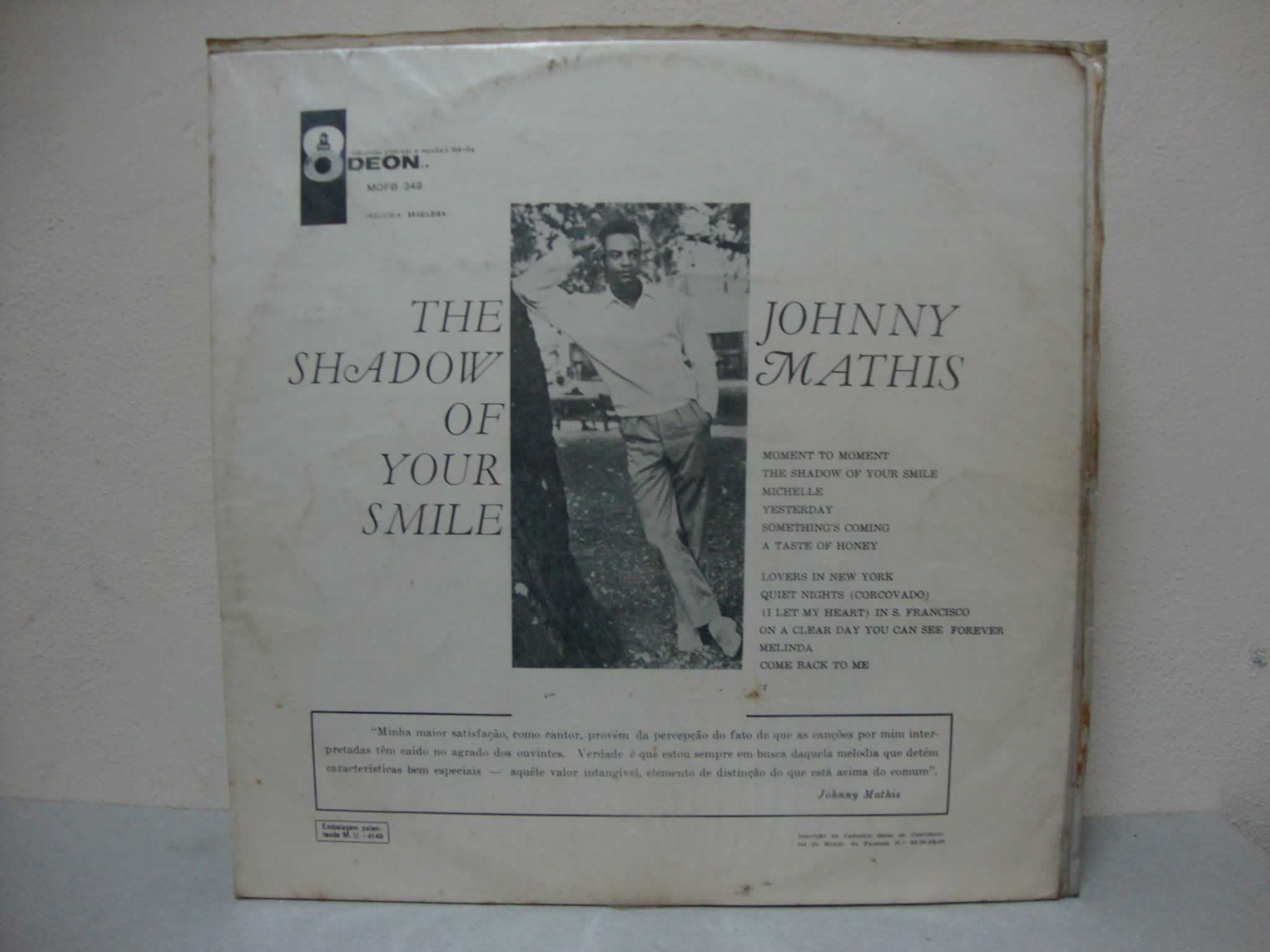 JOHNNY MATHIS - THE SHADOW OF YOUR SMILE
