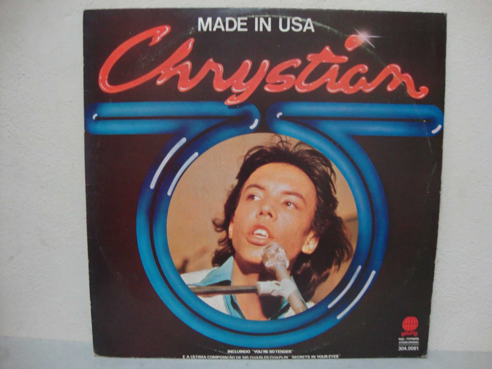 VINIL CHRYSTIAN - MADE IN USA