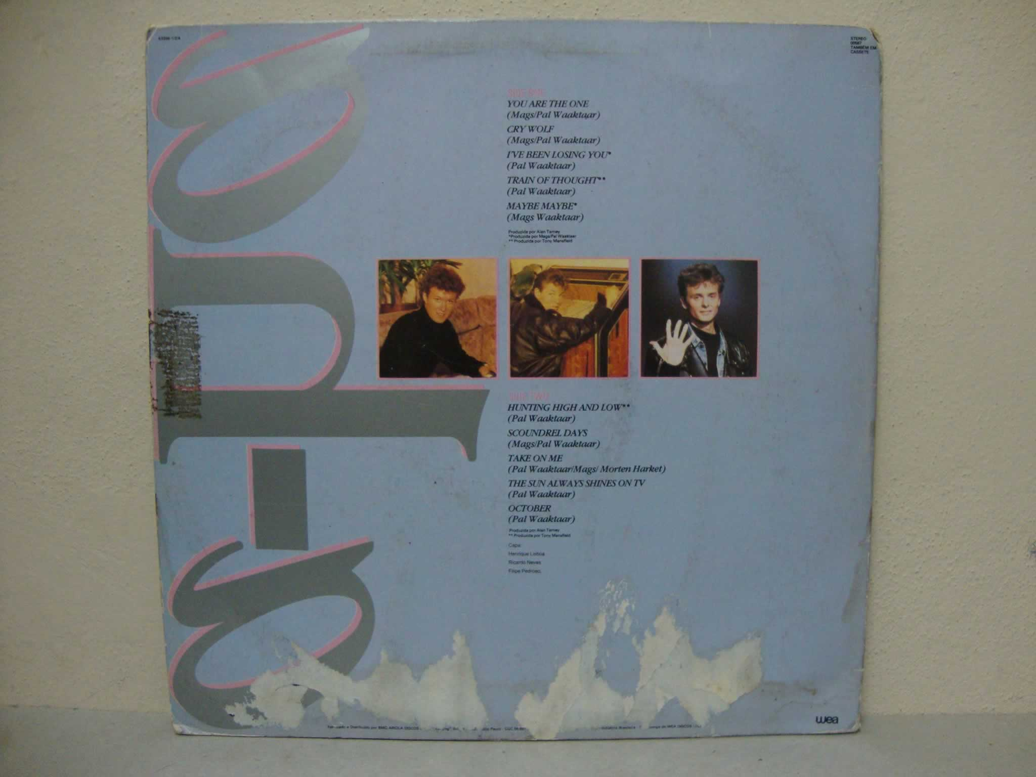 VINIL A-HA - ON TOUR IN BRAZIL
