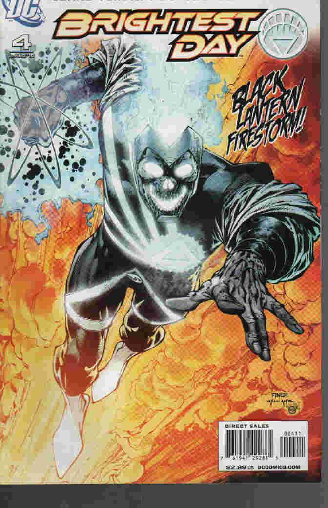 BRIGHTEST DAY Nº 04 -- BLACK LANTERN FIRESTORM !