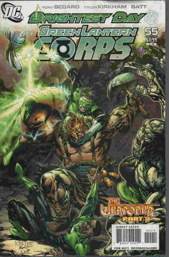 BRIGHTEST DAY  -- GREEN LANTERN CORPS Nº 55