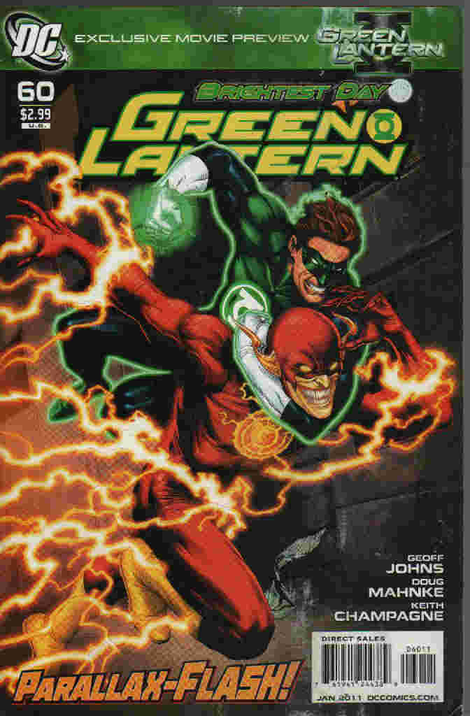 BRIGHTEST DAY -- GREEN LANTERN  Nº 60  ---- PARALLAX-FLASH !
