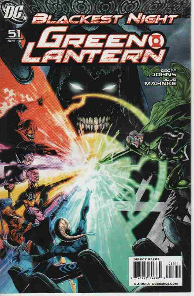 BLACKEST NIGHT -- GREEN LANTERN  Nº 51