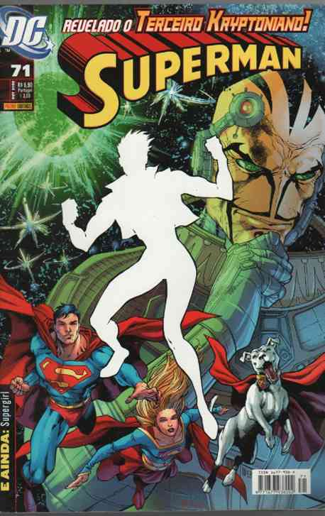 SUPERMAN   N° 71  ------ REVELADO O TERCEIRO KRYPTONIANO !