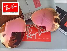 Ray Ban Aviador Espelhado Rose RB3026 PREMIUM