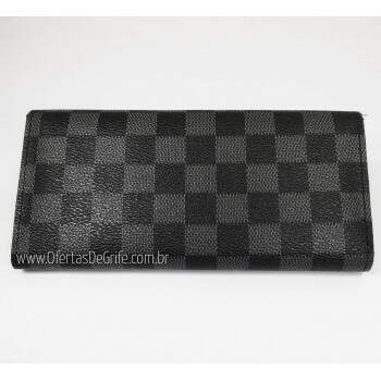 Carteira Louis Vuitton Sarah Curve Damier Graphite