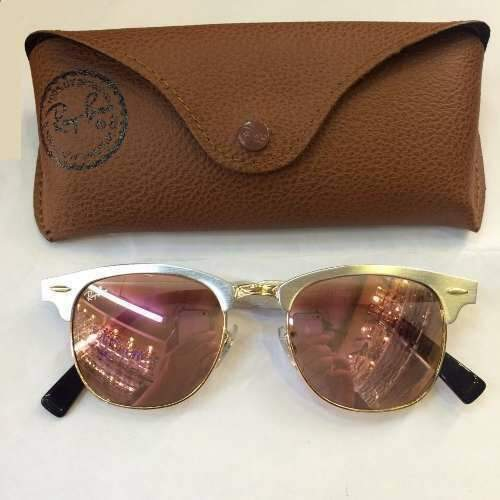 Ray Ban RB3507 Clubmaster Aluminum Rose- Premium ... a764729992
