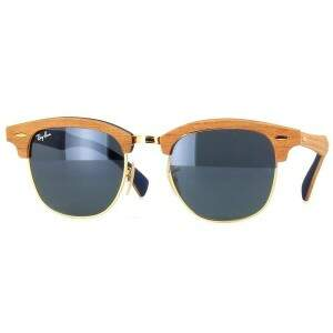 Ray Ban Clubmaster Wood Madeira Rb3016M
