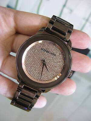 Relógio Michael Kors MK6245 Chocolate Gold Pave