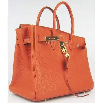 Bolsa Hermès Birkin 35 Orange Gold