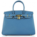 Bolsa Hermès Birkin 35 Light Blue Gold