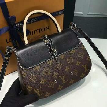 Bolsa Louis Vuitton Canvas Chain - Preta
