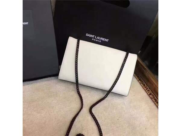 Bolsa Clutch YSL Kate - White