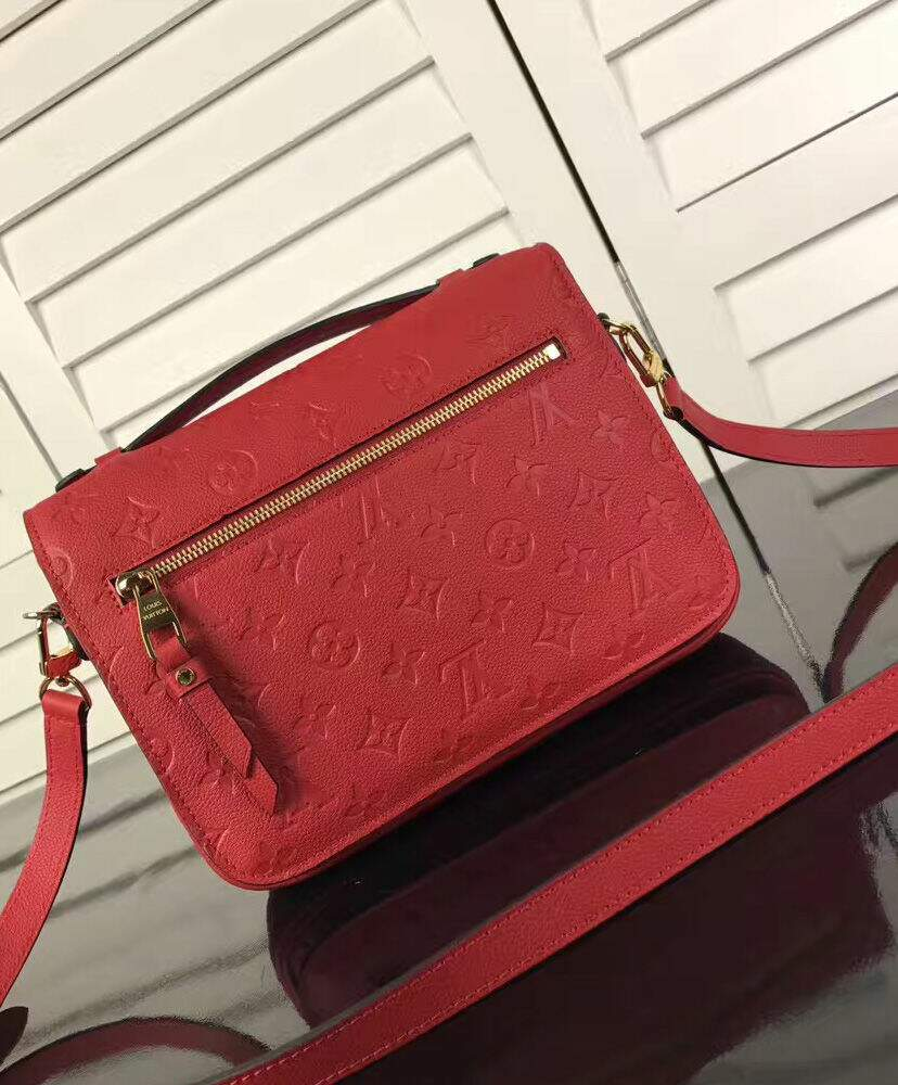Bolsa Louis Vuitton Métis Pochette Leather Red Premium