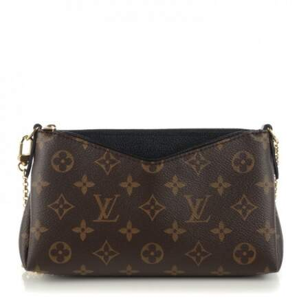 BOLSA LOUIS VUITTON CLUTCH PALLAS MONOGRAM PRETA