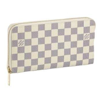 Carteira Louis Vuitton Zipper Duplo Damier Azur