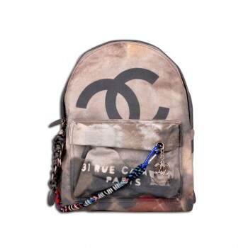 Mochila Ch. Backpack Graffiti Printed Canvas