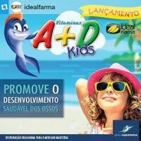 Global Nutrition - Vitamina A+D Kids sabor cereja - 150mg - 90 Cápsulas
