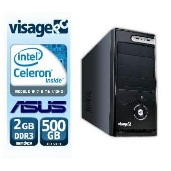 Computador Visage PC Bleu, Intel Celeron 847, 2GB, HD 500GB