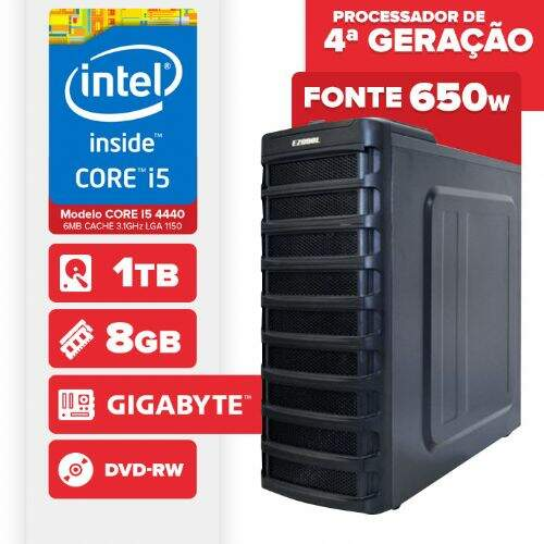 Computador Visage PC Bleu, Intel Core i5 4440, 8GB, 2x HD 1TB, DVD-RW