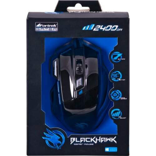 Mouse Gamer Óptico USB Black Hawk 2400dpi OM703 Fortrek