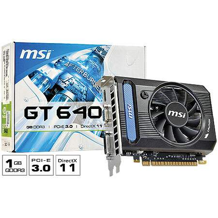 Placa de Vídeo GeForce N640GT-MD1GD3 1GB DDR3 128 bits - MSI