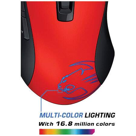 Mouse Gamer Roccat Kone Pure Hellfire Red 8200 dpi ROC-11-700-R