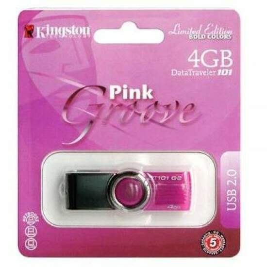 Pen Drive Kingston 4GB USB 2.0 DT101G2 Limited Edition Pink Groove