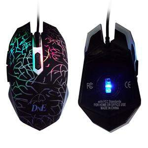 Mouse Óptico Gamer DNE USB com Led IBE8603