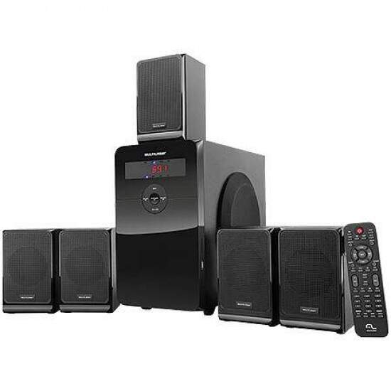 Home Theater Multilaser SubWoofer 5.1 120W RMS USB/SD/Aux, Rádio FM, Conexão TV e PC - SP160 Bivolt